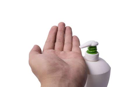 use hand cream jar unisex white background