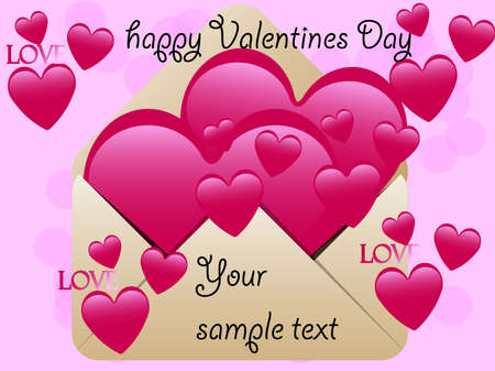 Valentines Day Greeting card , love