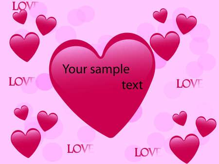 valentines day card design pink Illustration