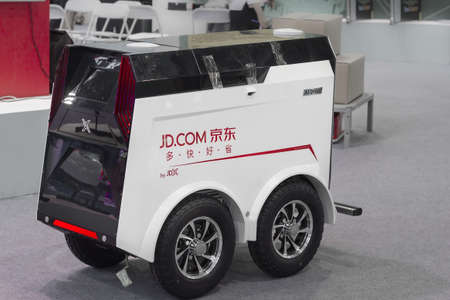 Jingdongs unmanned express vehicle 新聞圖片