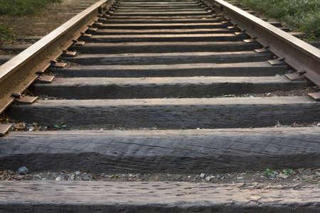 The tracks of Beijing Zhangjiakou Railway