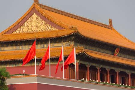 Beijing Tiananmen exterior landscape view Editorial