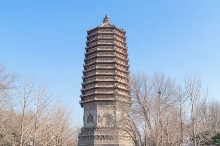 Beijing Linglong pagoda of cishou Temple Park 版權商用圖片