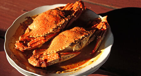 Our delicious crab to eat. Stock Photo