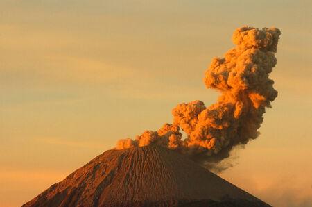 Volcanos Mount Semeru in East Java Indonesia.