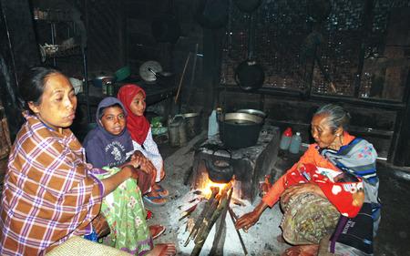 Space heating in Tengger tribe, Mount Semeru Slope, Lumajang, East Java, Indonesia. Photo taken on May 20th, 2009.