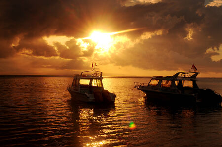 sanur: Sunrise in Sanur beach, Bali, Indonesia. Photo taken on: June 27th, 2007