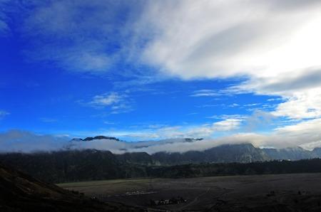 tengger: Savannah at Bromo Mountain Tengger, East Java, Indonesia Stock Photo