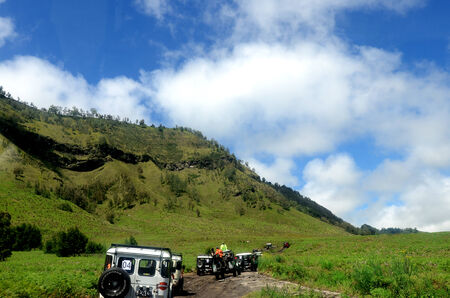 tengger: Savannah at Bromo Mountain Tengger, East Java, Indonesia Editorial