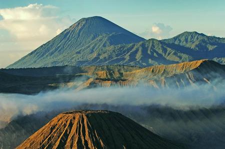 tengger: Bromo volcano at sunrise, Tengger Semeru national park, East Java, Indonesia Stock Photo
