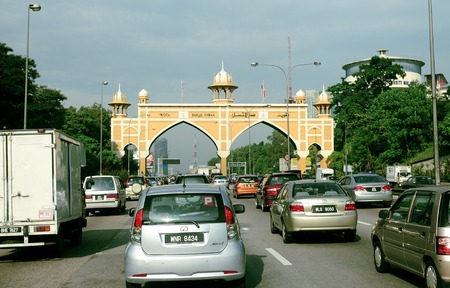 Kota Darul Ehsan is a row of arches symbolizing the border on Malaysian Federal Highway between the Federal Territory of Kuala Lumpur and Malaysian state of Selangor.
