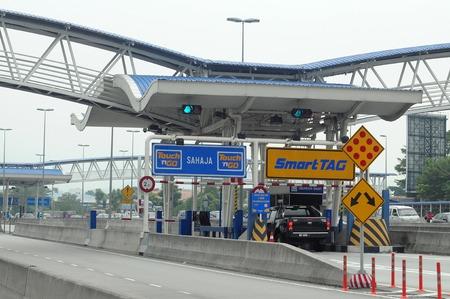 フリー ダイヤルのブース入り口クアラルンプール, マレーシア 報道画像