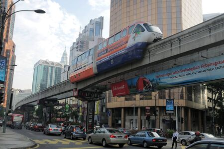 bukit: A panoramic view of Bukit Bintang, a famous place in the heart of Malaysia Editorial