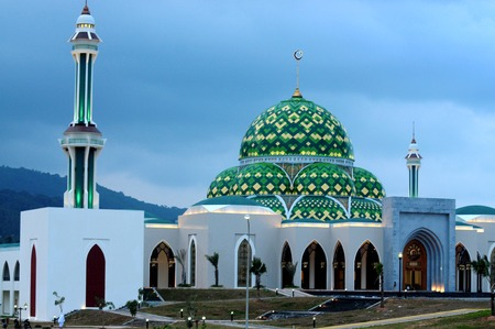 Mosque in Natuna Island, Riau islands province (Kepri), Indonesia 写真素材