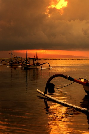 sanur: Sunrise in Sanur beach, Bali, Indonesia