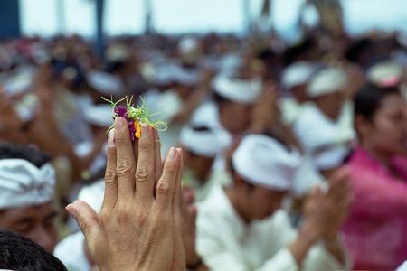 feier: Betet in Kuta Bali