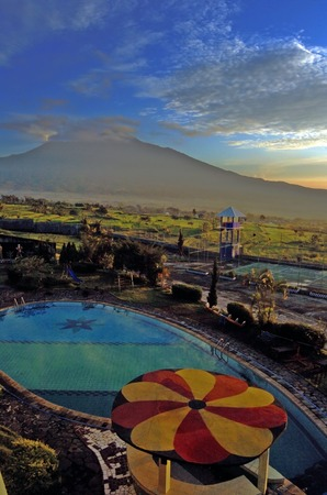 Landscape in Batu Malang East Java Indonesia