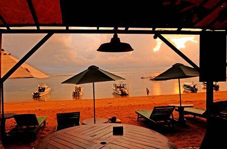 sanur: Sunrise in Sanur beach Bali Indonesia. sanur Editorial