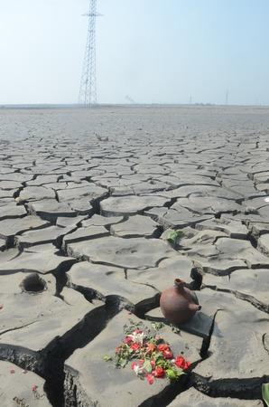 industrail: Dry soil due to the mudflow Sidoarjo