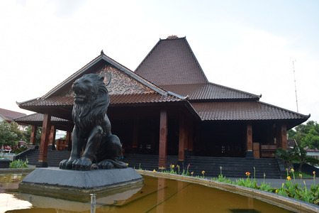 Ponorogo meetinghouse design typical house Ponorogo, East Java, Indonesia Editorial