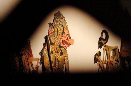 puppet show: Wayang Kulit Shadow Puppet Show
