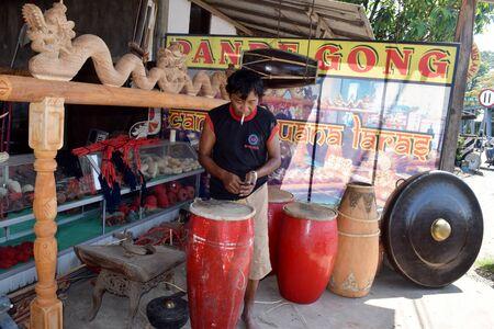 gamelan: Indonesia traditional musical instrument maker, Gamelan in Paju Village, Ponorogo, East Java, Indonesia