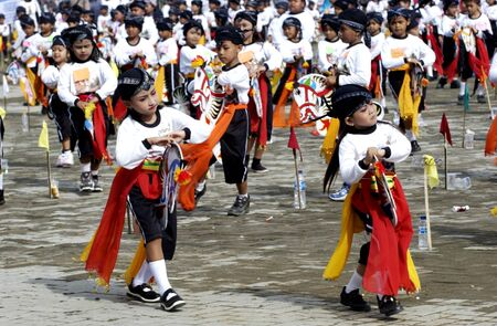 minors: Traditional mass dance in Ponorogo, East Java, Indonesia