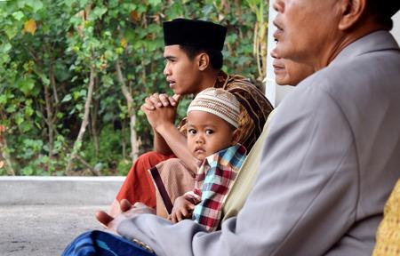 joyfull: Childrens after Eid prayers at the village mosque Sekaran, Ponorogo, Indonesia