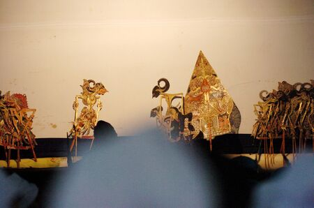shadow puppet: Surabaya, Indonesia - May 28, 2006: Puppet show at THR (Amusement People) Surabaya, East Java, Indonesia on May 28, 2006. Wayang Kulit, a highly popular shadow puppet theater, part of ancient Javanese tradition drawing huge audiences is played during cere