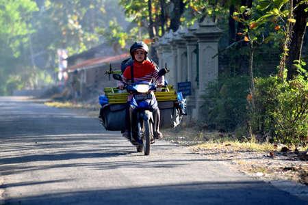 street corner: A street corner in the village Karangwaluh, Sampung, Ponorogo, East Java, Indonesia