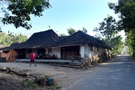villagers: Village with traditional houses of the villagers Karangwaluh, Sampung Ponorogo, East Java, Indonesia