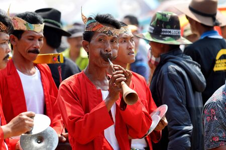 Madura accompany traditional arts event Sapi sono festival in Pamekasan, Madura Island, East Java Indonesia