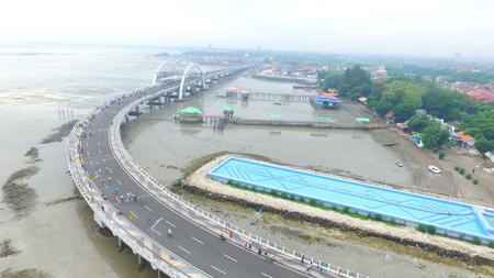 Kenjeran bridge Surabaya, east java, Indonesia Editorial