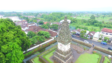 Candi Jawi in Pandaan village, Pasuruan, Indonesia, is a relic of Kadiri kingdom on November 25, 2016