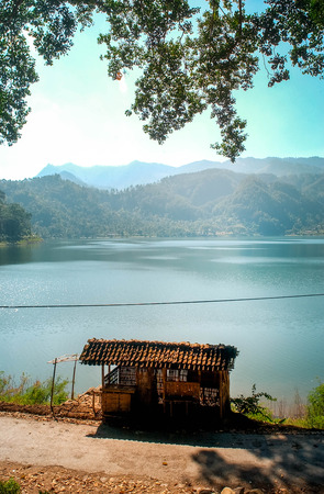 The beauty of Ngebel lake in Ponorogo, Indonesia