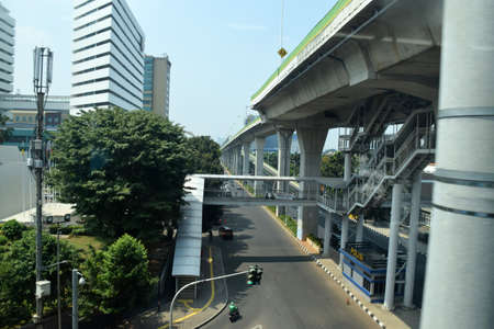 Asean MRT train station is a drop in passengers to Blok M and surrounding areas. MRT trains are an alternative transportation to overcome congestion in Jakarta, Indonesia on July 25, 2019 報道画像