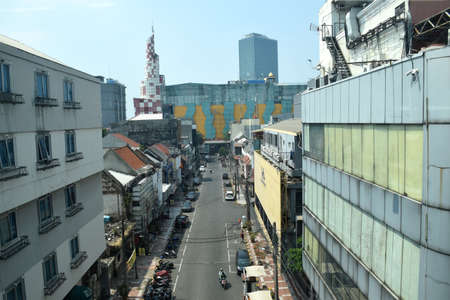 Blok M in the 1990s was the most favorite shopping center in Jakarta, Indonesia now looks empty of visitors. Photo taken from the Jakarta MRT train on July 25, 2019