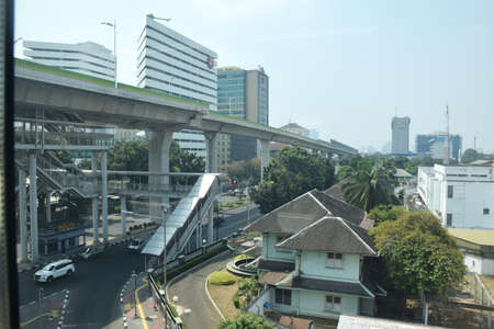 Asean MRT train station is a drop in passengers to Blok M and surrounding areas. MRT trains are an alternative transportation to overcome congestion in Jakarta, Indonesia on July 25, 2019 新聞圖片