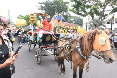 Participants prepare to take part in the cultural parade at the celebration to commemorate the 724th anniversary of Surabaya, the second largest city in Indonesia on May 6, 2017