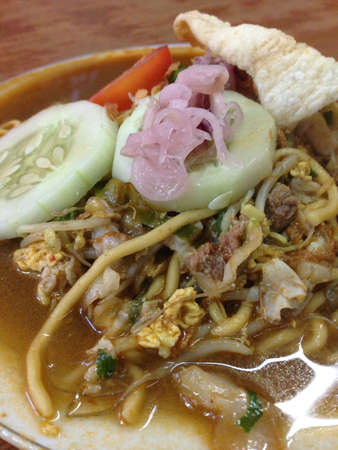 mie noodles: Indonesian traditional food mie aceh