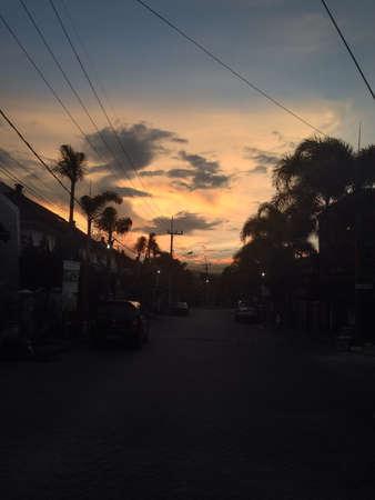 siluet: Beauty sunset