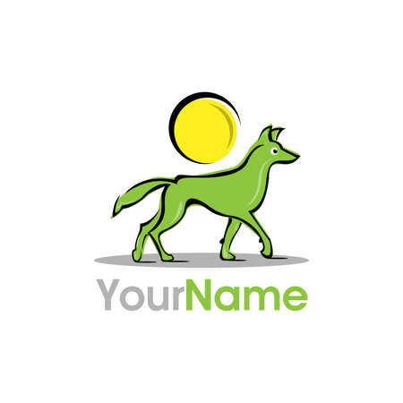 Dog logo vector illustration . Colorful and bright