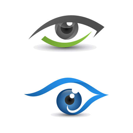 Eye icon template for logo design. Eye logo, eye design, eye symbol, vision element. Çizim