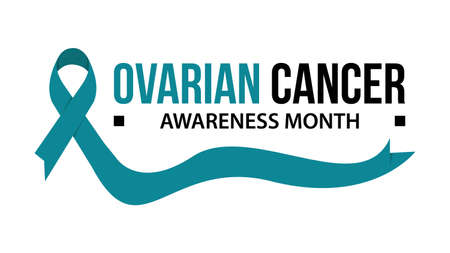 Awareness month ribbon cancer. Ovarian cancer awareness vector illustration