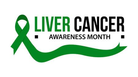 Awareness month ribbon cancer. Gallbladder cancer awareness vector illustration Illustration