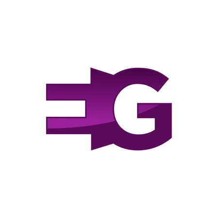 EG letter logo with creative negative space style vector Illustration Template.