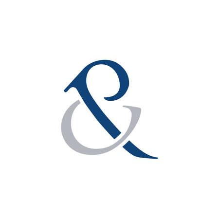 CP letter Initial alphabet Logo design Template element.