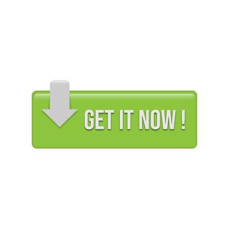 Get it now Action buttons for web sites. Vector symbols isolated on white background Illusztráció