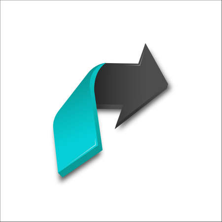 3D Arrows colors vector illustration. Three-dimensional Arrow Signs Set of different shapes