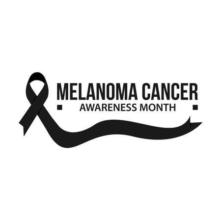 Melanoma cancer awareness vector illustration. Awareness month ribbon cancer